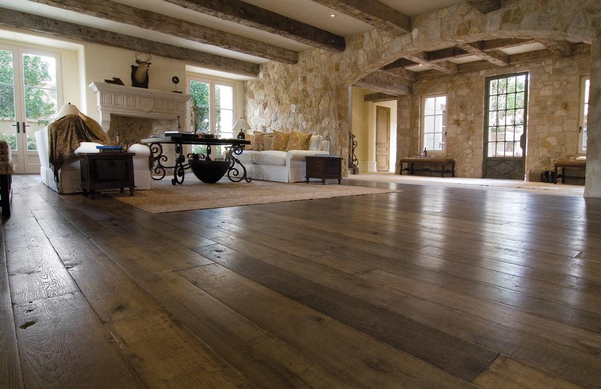 Oude Houten Vloeren : Massief eiken vloer eikenhouten planken eiken vloer