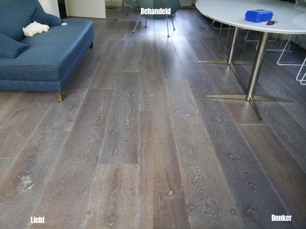 Renovatie eiken vloeren parket schuren parketvloeren houten